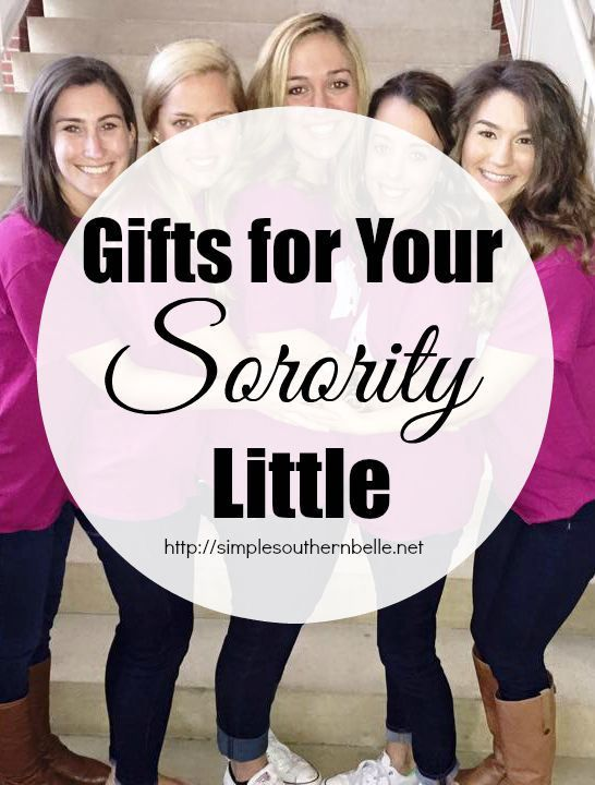 Gifts for Your Sorority Little: From shirts, hats, crafts, and more! http://simplesouthernbelle.net