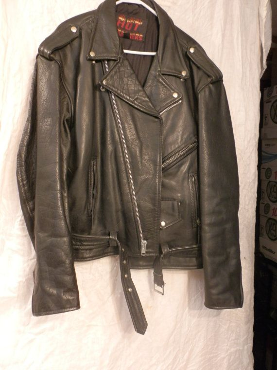 Hot Leather Mens Biker Jacket Classic Style by Twopeasinapod123, $75.00