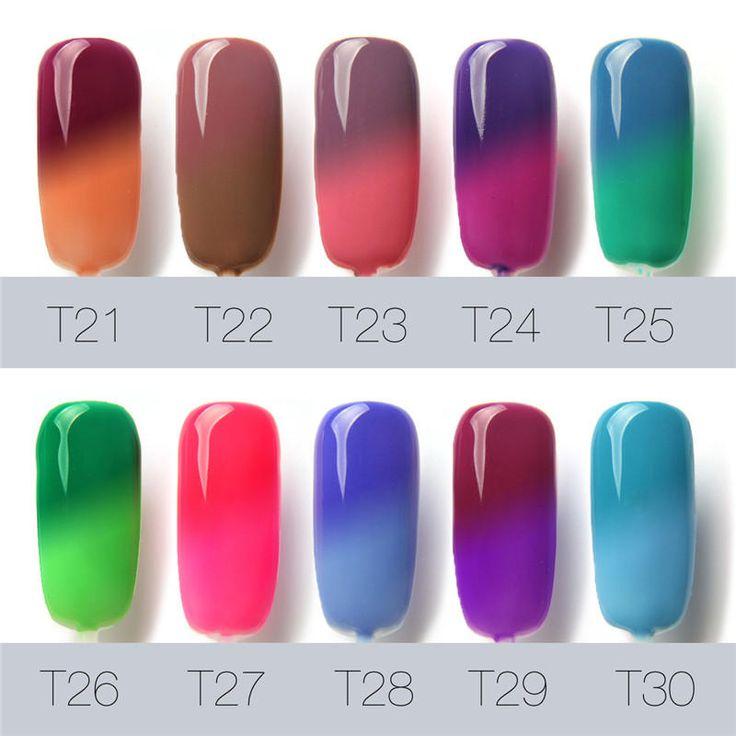 FOCALLURE Temperature Color Change UV Gel Polish Nail Art Varnish Manicure 7ml 30 Bright Colors at Banggood