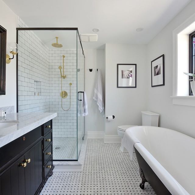 Black And White Is Forever Stylish And Classic Completely Re Designed 2nd Floor Bathroom To M Bathroom Design Small Elegant Bathroom Bathroom Remodel Master