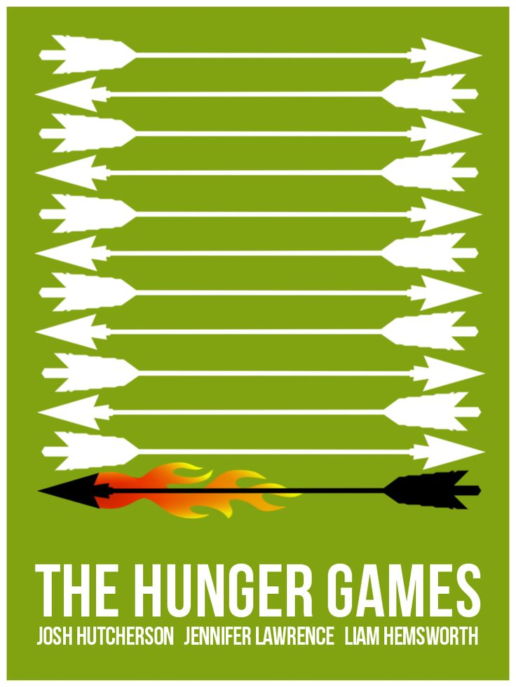 The Hunger Games Minimalist Movie Poster.
