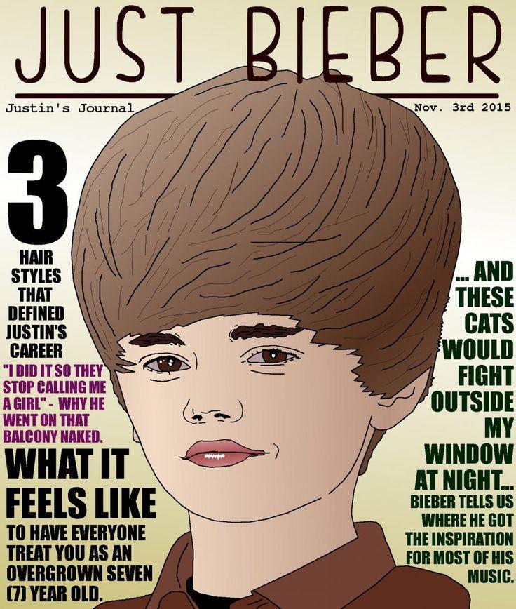 Caricature of Justin Bieber