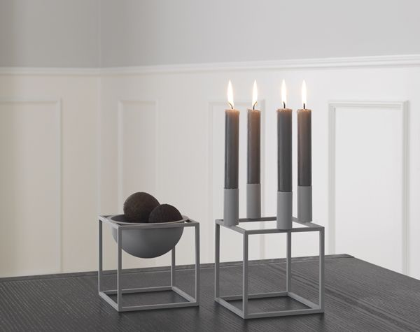 Classic! Now even in grey :-) Kubus 4 candelholder