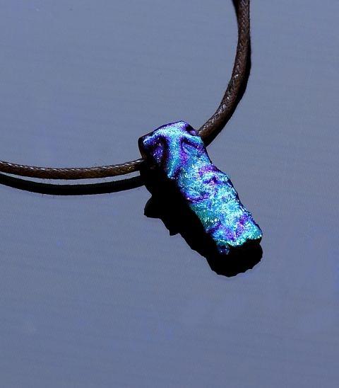 Kék tengeri gyöngyszem üvegmedál, üveg medál, üveg..., An..., meska.hu