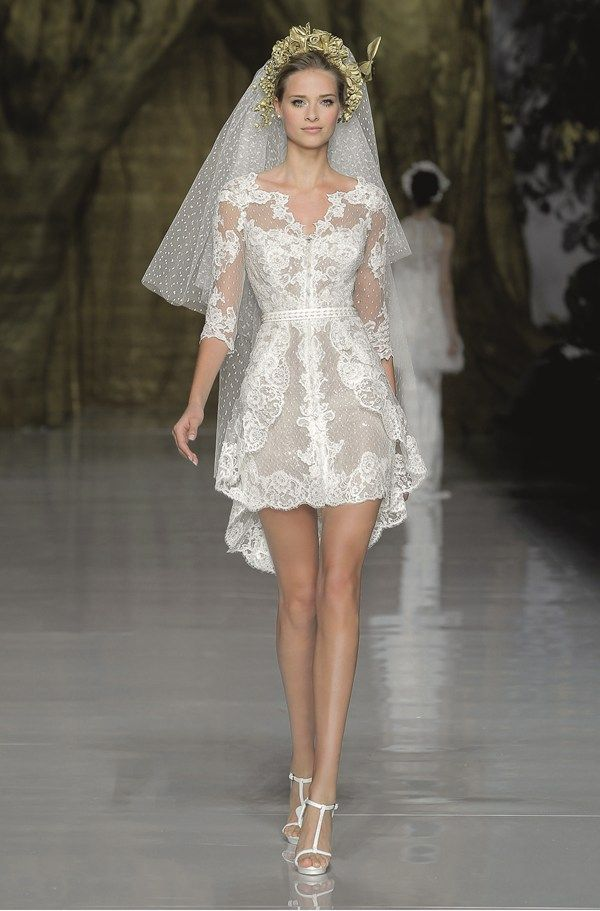 had to put this in here, just cuz i wonder how many steps i could take before my dad would flat out have a stroke and die.....  Pronovias spring 2014 wedding dresses