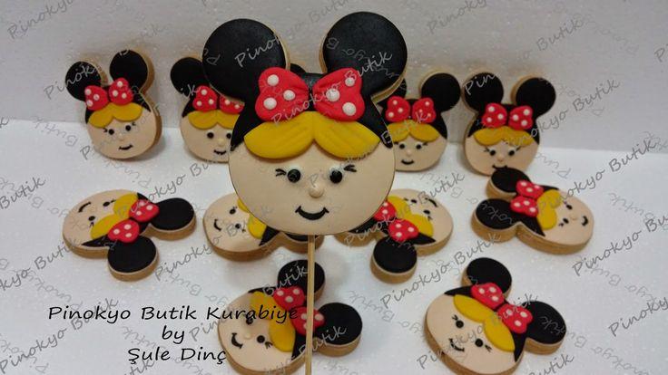 Pinokyo Butik Kurabiye ve Pasta - İzmit: Minnie Mouse temalı kız çocuk kurabiyeleri...