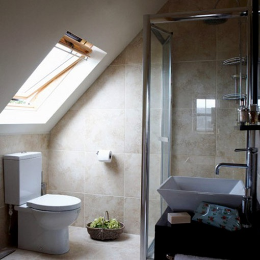 Attic bathroom...