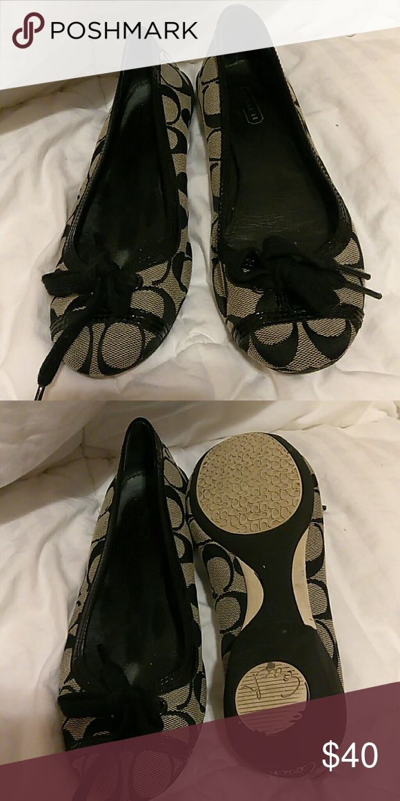 Authentic coach flats Authentic coach flats size 5 1/2 b in great conditions no rips or stains Coach Shoes Flats & Loafers