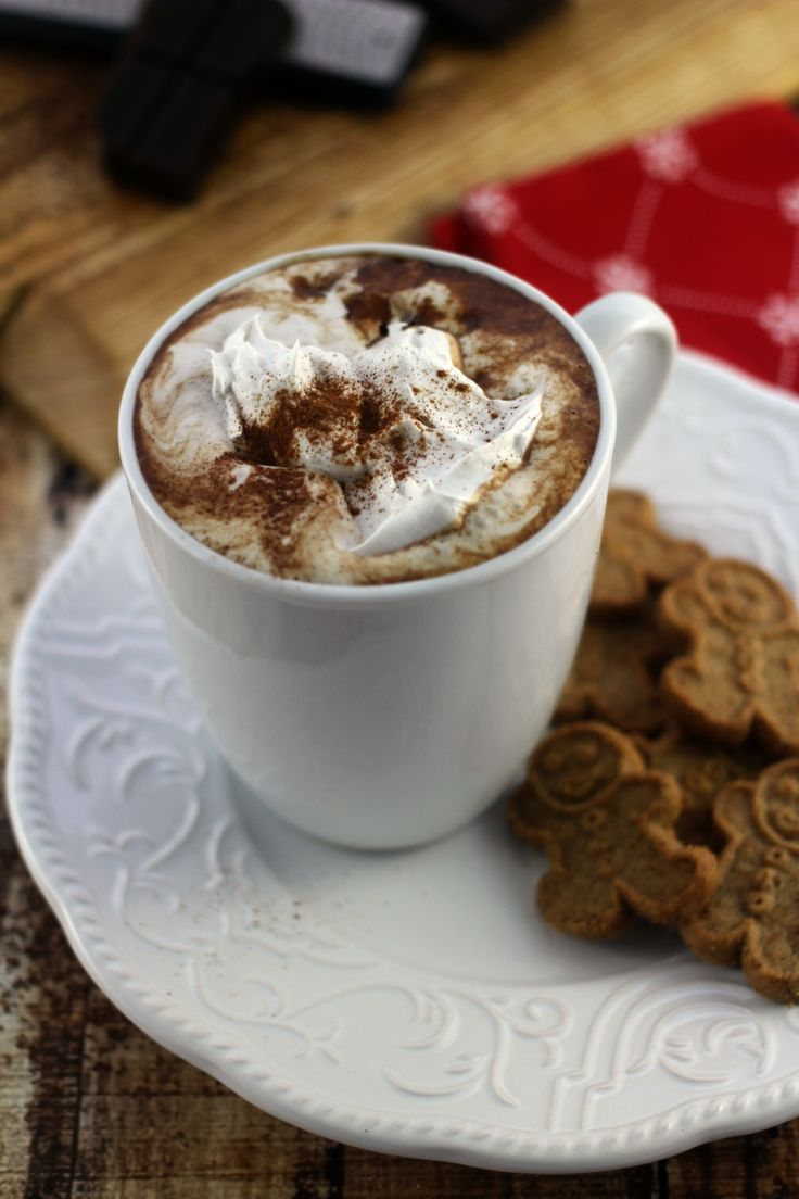 Gingerbread Hot Chocolate made with #ThaiKitchen #CoconutMilk by Frugal Mom Eh. #HotChocolate and #Gingerbread are two treats that seem synonymous with winter. This recipe brings the two together in one seriously delicious treat that melds hot chocolate with all the flavours of gingerbread. #Winter #Drink #American #TKeveryday