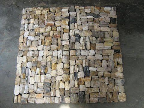 Petrified Wood Mosaic Flooring - YouTube