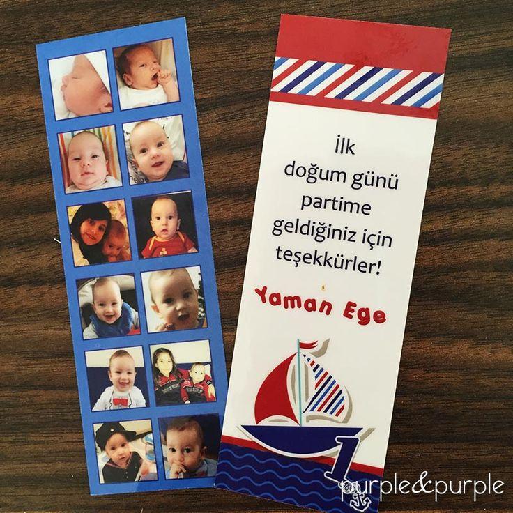 Denizci Temalı Kitap Ayracı Denizci Temalı Doğum Günü Hediyelikleri | Denizci temalı doğum günü | Nautical Birthday Party | Boys First Birthday | Birthday Party Favors, Bookmark