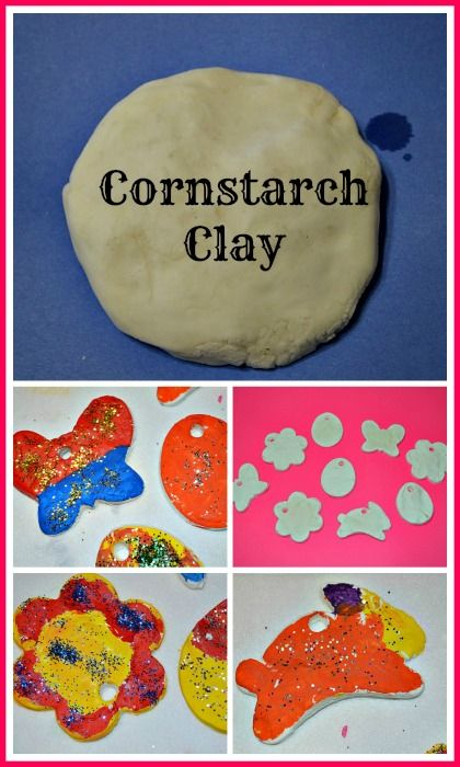2 ingredient cornstarch clay. Play, make shapes, air dry and paint. #easter #spring #sensoryactivities #diy