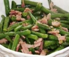 Recipe French Beans with Garlic and Bacon