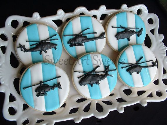 Helicopter Cookies  1 dozen by SweetArtSweets on Etsy, $45.00