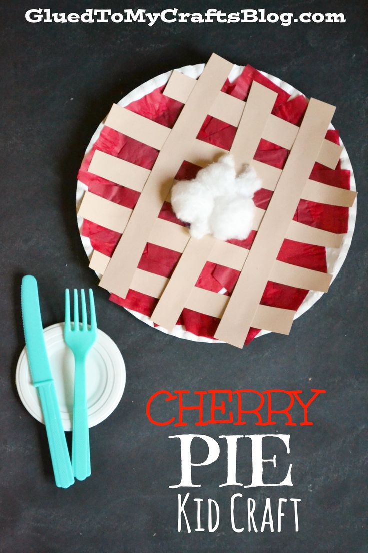 Cherry Pie Kid Craft - a perfect kid friendly activity for children to do on Thanksgiving