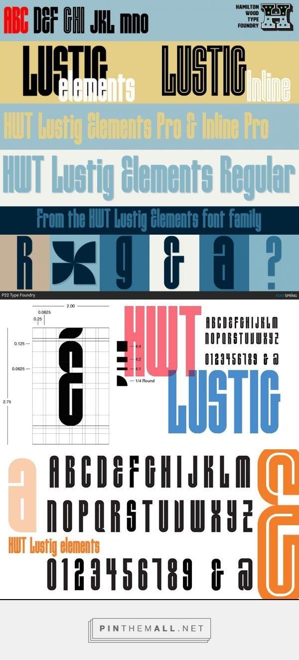 HWT Lustig Elements by Hamilton Wood Type