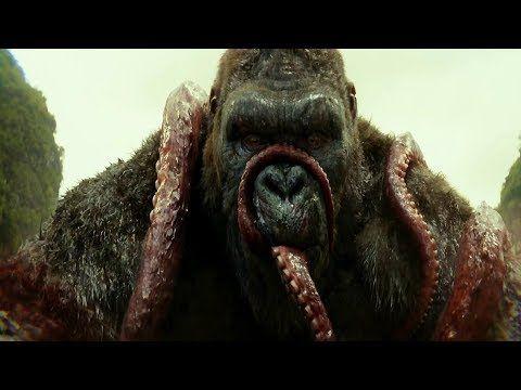 Kong La Isla Calavera Kong Vs Calamar Latino Youtube Skull Island King Kong Skull Island Movies 2017