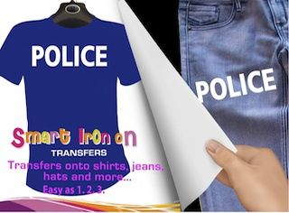 Police Iron On Transfer, $7.95