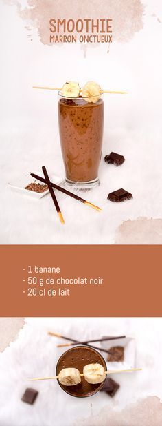 Mes 5 smoothies colorés - marron