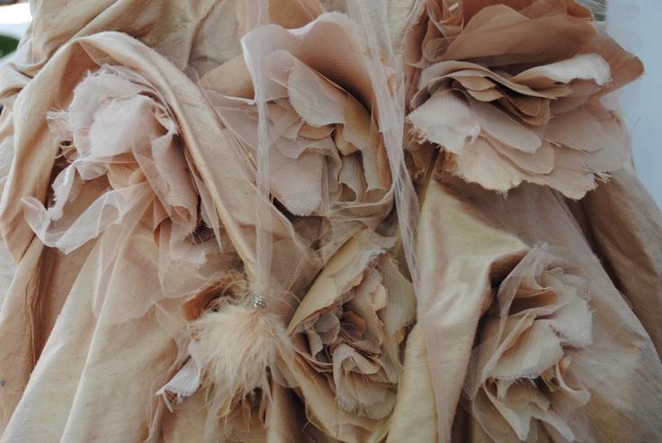 Vesselina Pentcheva bustle detail on Wedding dress 2012