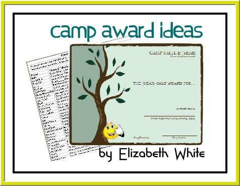 Girl's Camp Award Sheet and excell list of awards and prizes