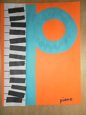 Llibre de les lletres: P de piano.