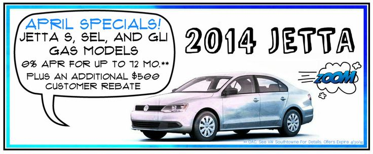 VW APRIL INCENTIVES 2014! Come and check it out and have your questions answered by our great sales team.