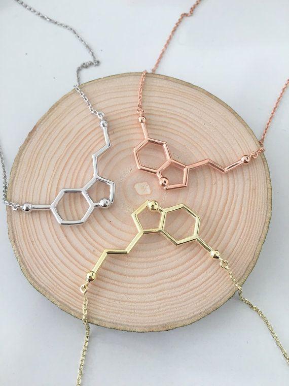 Collar de la serotonina / / collar de la por HappyWayJewelry