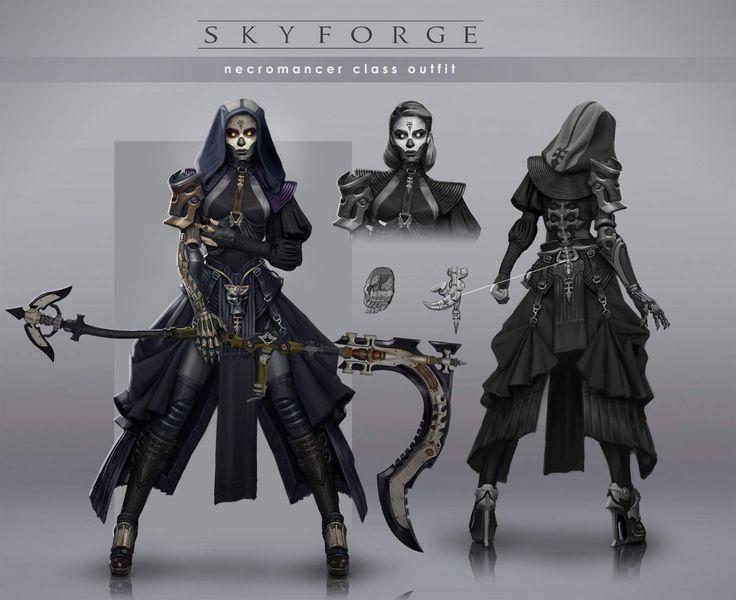 Necromanceress - Skyforge - Fan art By `Grigory Lebidko