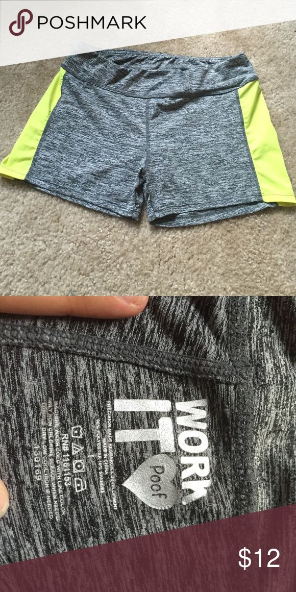 Spandex Nike look alike shorts So cute and soft material!!! Never worn. Size medium by could fit a small as well -not Nike- Nike Shorts