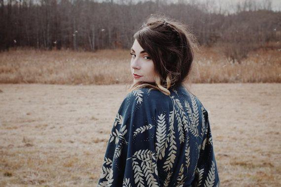 Sonia Robe jurk Kimono badjas jurk Cobalt en van SimkaSol op Etsy