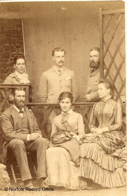 Group portrait of Marie, Alfred, Charles, Herbert, Jane and Margaret Neville Rolfe, c. 1880