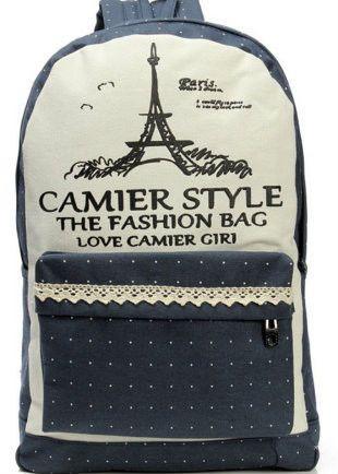Стильный рюкзак в горошек Camier style, фото 1