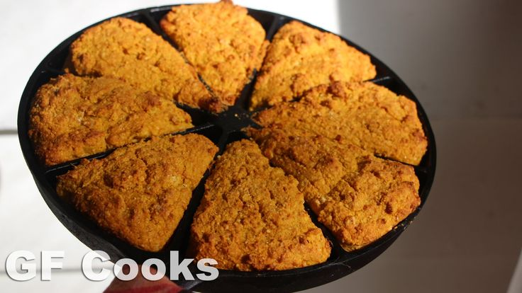 Cast Iron Pumpkin Cornbread Recipe Video. Great thanksgiving recipe or fall comfort food dinner, I love how each slice has crisp edges with this fun cast iron pan.