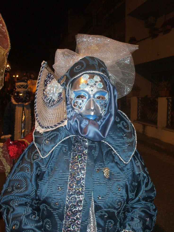 Maschera carnevale argento