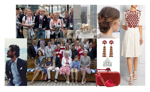 """""""Attending a Reception Hosted by her Mother, the Queen, for The Danish Olympic Team on Board the Danish Royal Yacht, the Dannebrog, Docked in West India Dock in London with her Husband"""" by louiseingrid-ofdenmark ❤ liked on Polyvore featuring Reception, Alexander McQueen, Bottega Veneta and Charlotte Olympia"""