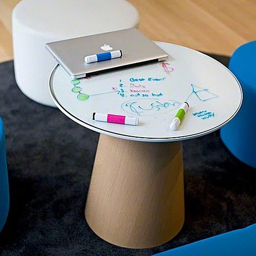 Troubleshoot problems and work through ideas with your co-workers on the Campfire Paper Table by Turnstone.