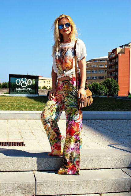Tropical pants. Easy summer look