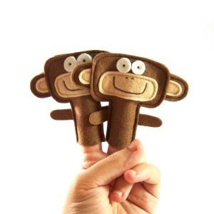 titere de dedo mono Más