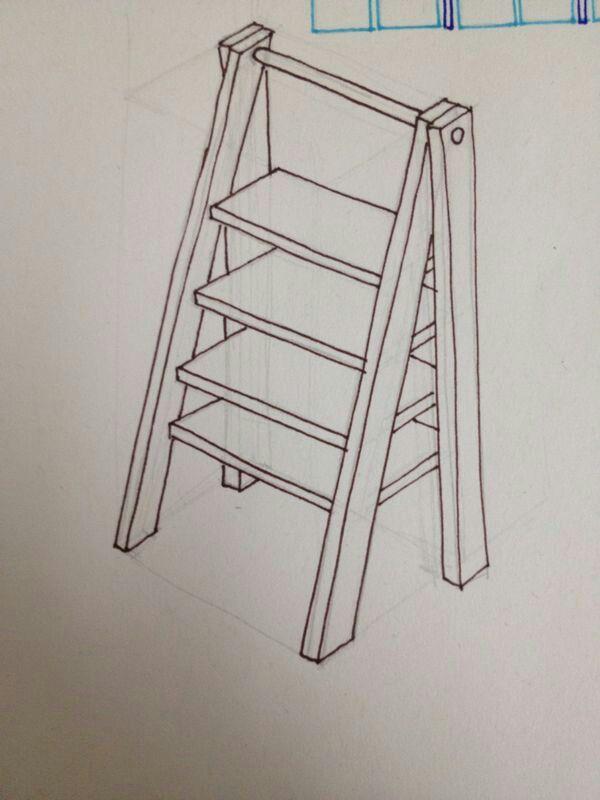 el diseño de mi escalera vintage y repisera casi lista para mis mesas de postres!