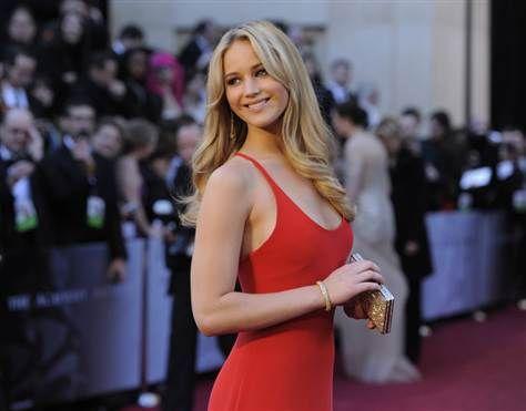 Jennifer Lawrence - Red dress -  Calvin Klein