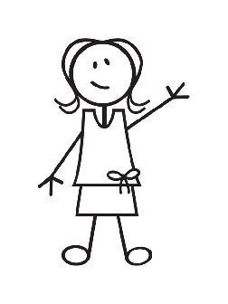 girl stick figure