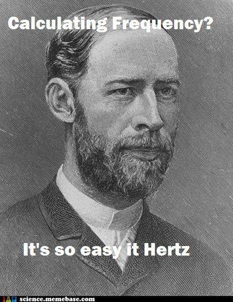Hertz: Nerd Alert, Funny Things, Science Jokes, Nerd Jokes, Heinrich Rudolf, Funny Stuff, Heinrich Hertz, Rudolf Hertz, Nerdy Things