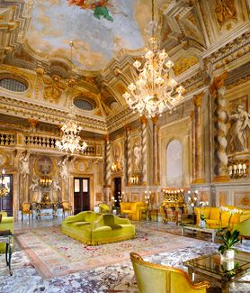 Live like a Borgia in the Grand Hotel Continental in Siena, Italy. The hotel was once at 17th century home built by architect Carlo Fontana.
