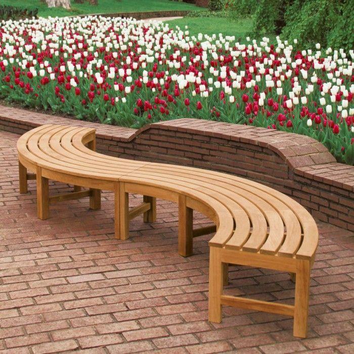 Curved Outdoor Bench Outdoor Garden Benches Hanlonstudios Series ...
