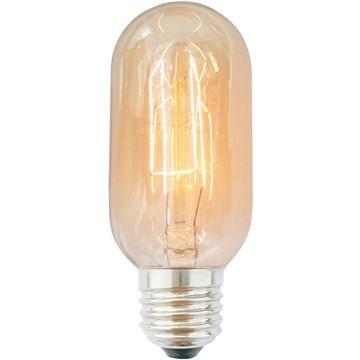 Bec decorativ Edison T45 40W E27, 220-240V