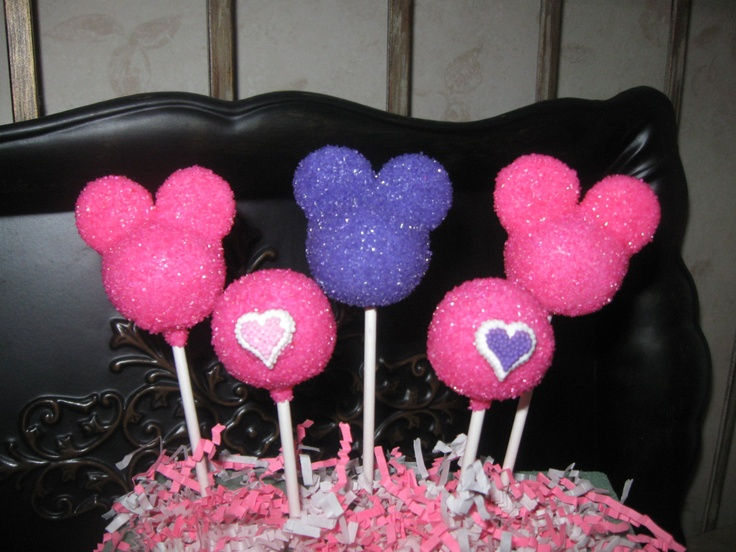 Minnie Mouse cake pops Cake pops Pinterest Mouse ...