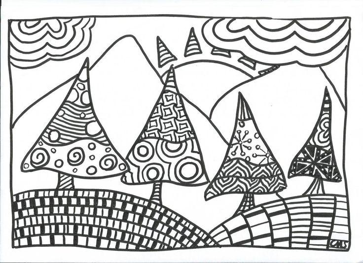 Les 25 meilleures id es de la cat gorie coloriage sapin de for Art et decoration pdf