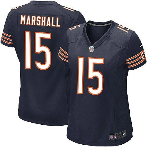 shop for official womens nike chicago bears 15 brandon marshall game team color blue jersey