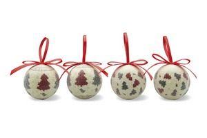 Set de 4 bolas de Navidad QUADRILLE